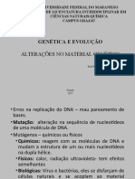 ALTERAÇÕES NO MATERIAL GENÉTICO