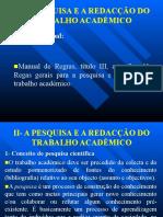 UNIDADE II - PESQUISA E REDACÇÃO DO TRAB ACADÉMICO