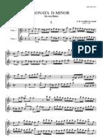 Loeillet, Sonata D-Minor para duo Flute