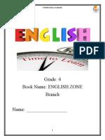 Gr. 4 English Zone Sheet