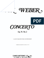 Weber Clarinet -Piano Concerto No.2 in Eb, Op. 74