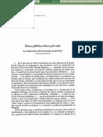 Peces Barba - Etica Publica, Etica Privada