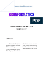 BioInformatics Abstract for paper presentation