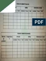 registro almacen