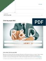 ▷ Fiche métier Chef de projet R&D _ salaire, étude, rôle et compétence _ RegionsJob.com