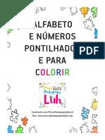Alfabeto Pontilhado Letras e Numeros