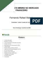 Mineração de dados no Mercado Financeiro