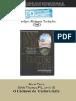 Anne Perry - Série Pitt 15 - O Cadáver de Traitors Gate