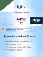 uji T (T test)