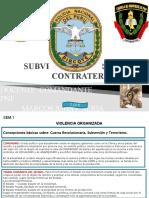 Subversión y Contraterrorismo 1 2 3 Semana