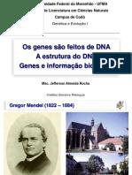 Genes, Historia e Estrutura Do DNA - Genetica e Evolucao