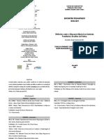 Folder com a Programação Completa do Encontro Pedagógico 2021