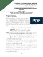 Modelo Recurso Administrativo de Apelación Contra Resolución Directoral - Autor José María Pacori Cari