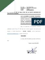 APERSONAMIENTO SALA CIVIL - ALVARADO