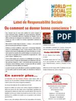 Label de Responsabilité Sociale ou comment se donner bonne conscience ?