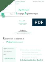 Chapitre III. Langage Algorithmique (Séance N°6)