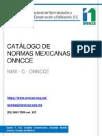 CATALOGO_DE_NORMAS MEXICANAS ONNCCE (Construccion y edificacion)