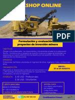 Brouchure Curso Formulación y Evaluación de Proyectos de Inversión Minera-27-29 Agosto.
