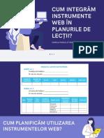 Cum putem integra instrumentele web în planurile de lecții