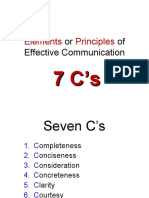 Seven C's for STD