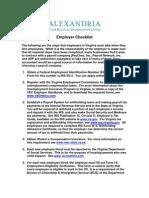 Employer Checklist