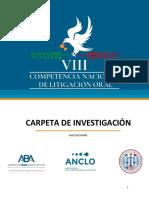 Carpeta de Investigación - VIII CNLO - Fase regional