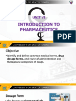 Introduction to Pharmaceutics - Dosage Forms