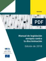 MANUAL DE LEGISLACIÓN EUROPEA CONTRA LA DISCRIMINACIÓN