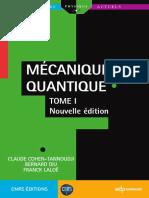 Mecanique Quantique - Tome 1 - Claude Cohen-Tannoudji