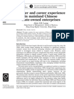 Gender and Career Experience on Mainland Chinese State-Owned Enterprises