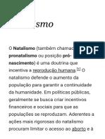 Natalismo – Wikipédia, A Enciclopédia Livre