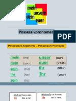 Possessivpronomen Grammatikerklarungen Grammatikubungen 66841
