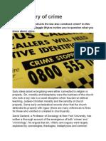History of crimes summary