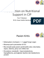 1. Introduction on Nutritional Support in CIP - dr. tinni