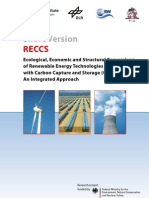 Ecological, Economic and Structural Comparison of Renewable Energy