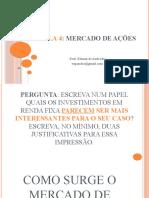 MERCADO FINANCEIRO E CENÁRIO ECONÔMICO Aula-4