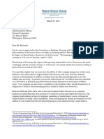 2021.03.29 Letter to Remondi Re Invite to Banking Hearing