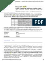 RG (AFIP) 3537 - Clasificac. y codificac. actividades. Empadronamiento