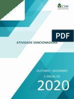 Relatorio de Atividade Sancionadora Cvm 2020 4o Trimestre e Anual Integra