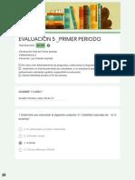 EVALUACIÓN 5 _PRIMER PERIODO Solución