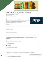 EVALUACIÓN 5 _PRIMER PERIODO