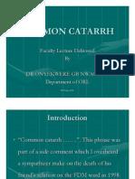 Common cattarh