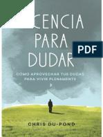 Licencia Para Dudar_ Como Aprov - Chris Du-Pond