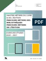 Guide Etudes M Métiers Livre Edition p Biblio Et Edition 2020_Final