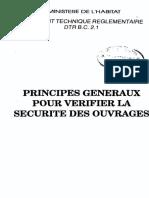 Bc 21 Principes Generaux Pour Verifier La Securite Des Ouvrages