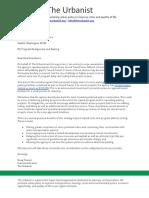 The Urbanist - Sound Transit Parking Letter