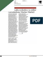 La gita scolastica va online (destinazione Museo Marini) - Il Corriere Fiorentino del 30 marzo 2021