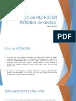 GUÍA de NUTRICIÓN PÉRDIDA de GRASA