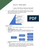 Resumo TCC - Modelo Cognitivo