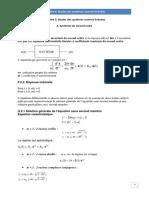 Chapitre II Etude des systèmes linéaire  2ime ordre